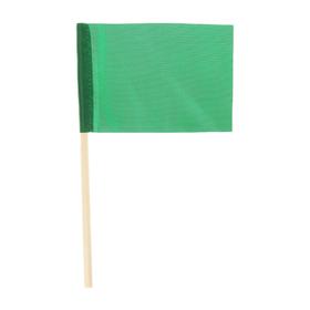Флажок длина 25 см, 10x15, цвет зеленый Ош