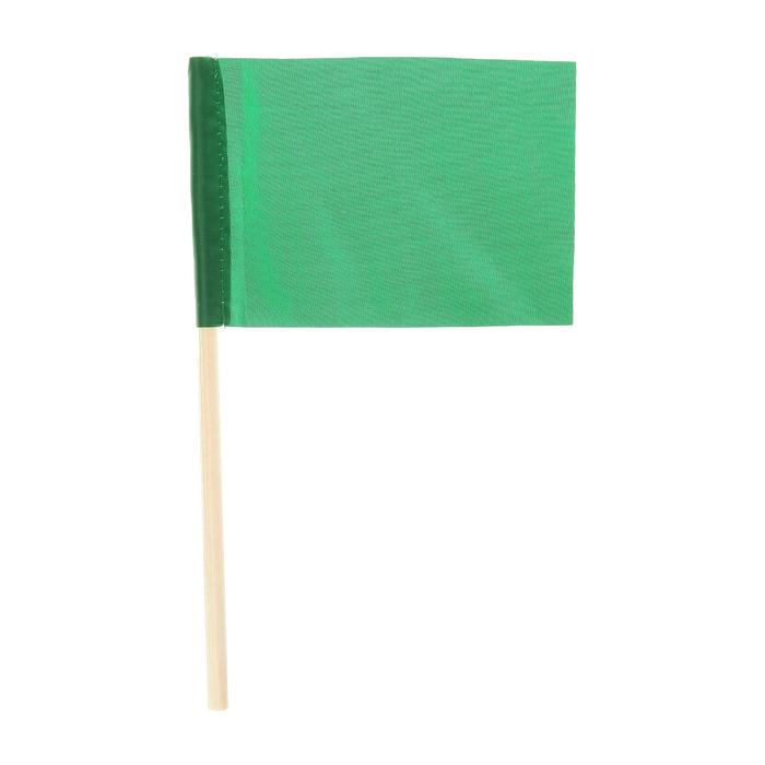 Флажок длина 25 см, 10x15, цвет зеленый