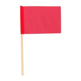 Флажок длина 25 см, 10x15, цвет красный Ош