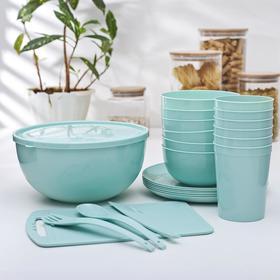 Набор посуды «Пир», на 6 персон, 38 предметов