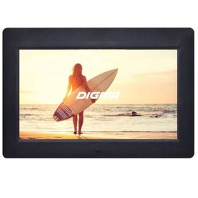 Фоторамка Digma 10.1' PF-1033, 1024x600, пластик, ПДУ, видео, черная Ош