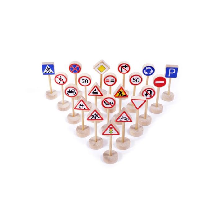 Игровой набор «Дорожные знаки», 20 штук