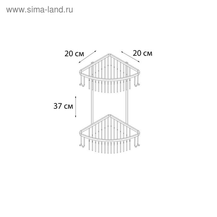 Угловая полка двухэтажная Fixsen FX-858-2, бронза