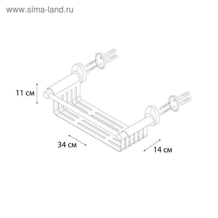 Полка универсальная Fixsen FX-21823, хром