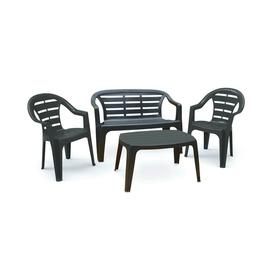 Набор мебели MADURА, 4 предмета, скамья 2-местная, 2 кресла, стол, пластик Ош