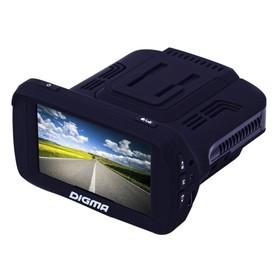 Видеорегистратор + радар-детектор Digma DCD-300 COMBO, 2.7', обзор 170°, 1920x1080 Ош