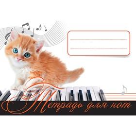 Музыка для детей. Тетрадь для нот. Рыжий котенок.