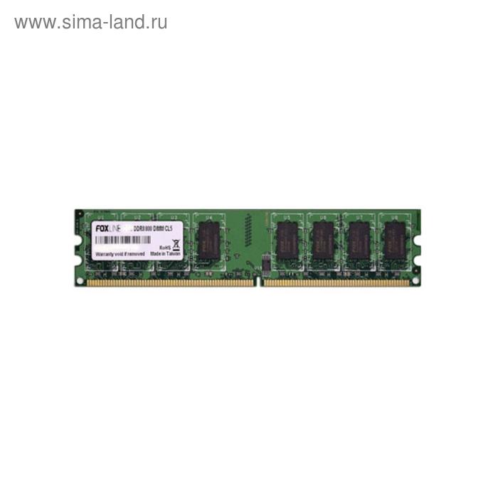 Память Foxline DIMM 4GB FL800D2U6-4G, FL800D2U5-4G 800 DDR2, CL6, 256х8