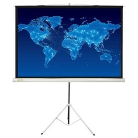 Экран Cactus 150x150 Triscreen CS-PST-150x150 1:1, напольный, рулонный Ош