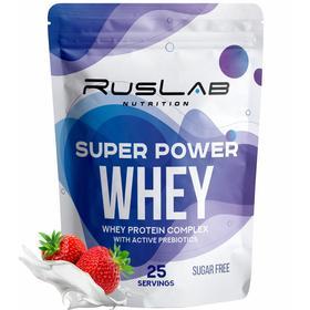 Протеин Super Power Whey, клубника, 800 г