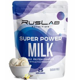 Протеин RusLabNutrition Super Power Milk Ванильное мороженое, 800 г