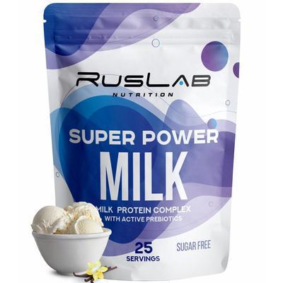 Протеин RusLabNutrition Super Power Milk Ванильное мороженое, 800 г - Фото 1