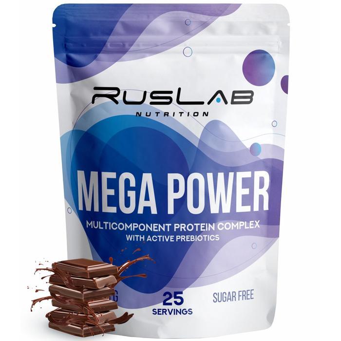 Протеин RusLabNutrition Mega Power Шоколад, 800 г