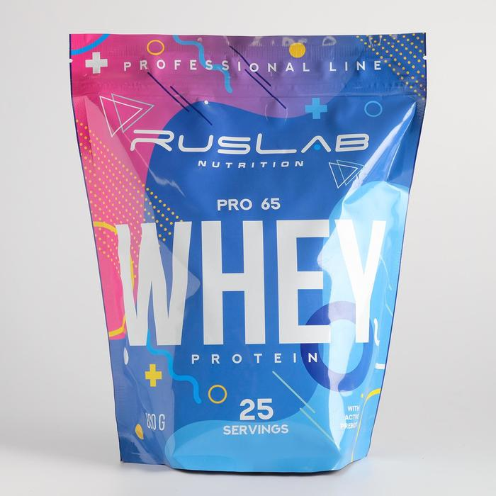 Протеин RusLabNutrition PRO 65 WHEY Ванильное мороженое, 800 г