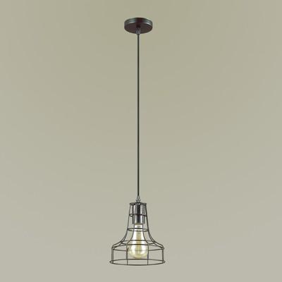 Светильник ALFRED 1x60Вт E27 чёрный 17,5x17,5x121,5см - Фото 1