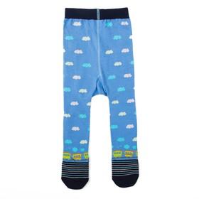 Колготки для мальчика КДМ1-3085, цвет голубой, рост 68-74 см