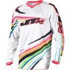 Джерси JT Racing FLEX-FLOW, белый/микс, размер M
