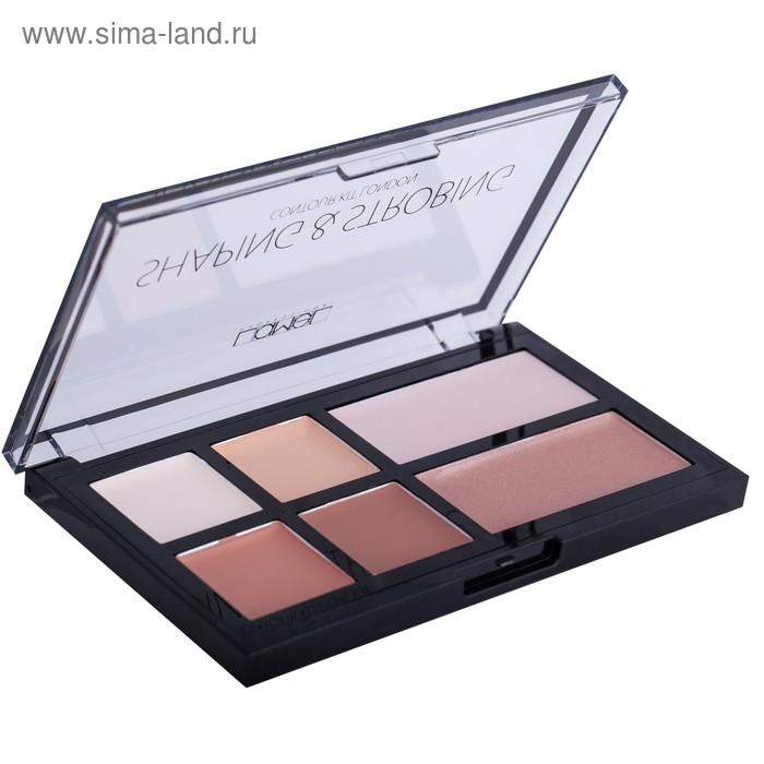 Набор для макияжа - корректор и хайлайтер кремовый Lamel Shaping & Strobing Make up Kit