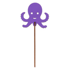 """Топпер """"Осьминог"""" 8х6 см, фиолетовый"""