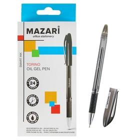 Ручка шариковая Torino, игольчатый пишущий узел 0.7 мм, чернила чёрные на масляной основе