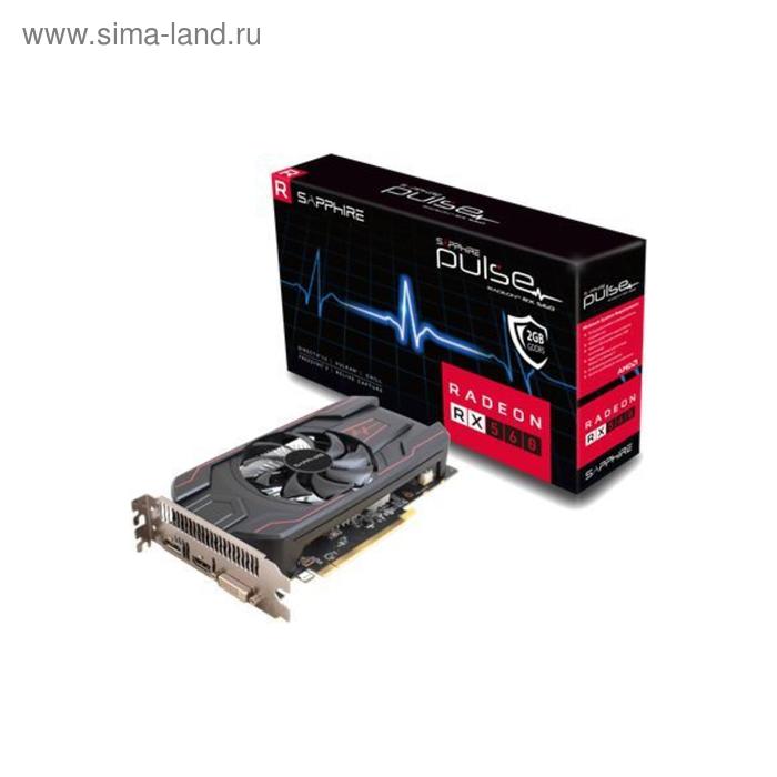 Видеокарта Sapphire AMD Radeon RX 560 PULSE OC (UEFI) (11267-22-20G) 2G,1216/6000,Ret