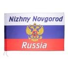 Флаг России с гербом, Нижний Новгород, 90х150 см, полиэстер