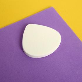 Спонж для нанесения косметики, 5 × 4,8 см, цвет белый Ош