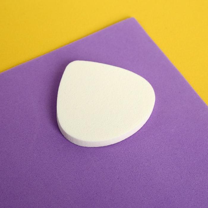 Спонж для нанесения косметики, 5 4,8 см, цвет белый