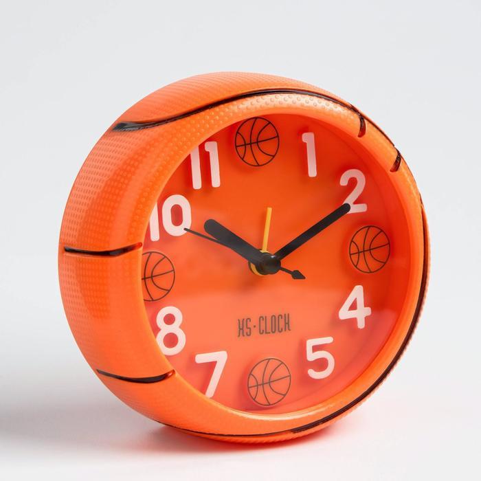 """Будильник """"Баскетбольный мяч"""", дискретный ход, 11.5 х 11.5 см, d=11 см"""