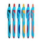 Ручка шариковая, автоматическая, 0.7 мм, Vinson, прорезиненный корпус, стержень масляный синий, МИКС
