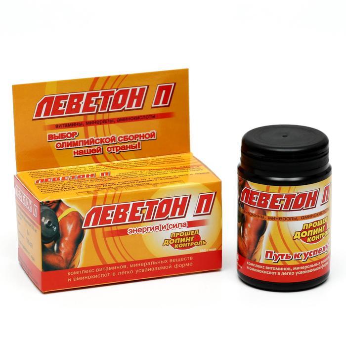 Комплекс «Леветон П», энергия и сила, 60 таблеток по 505 мг