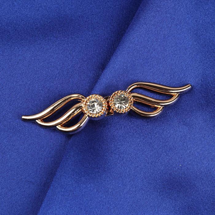 Декоративная застёжка «Крылья», 6 × 1,3 см, цвет золотой