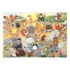 Дидактический набор с игровым полем «Зоопарк», 35 деталей