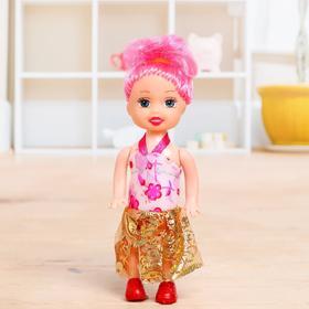 Кукла малышка в платье, МИКС