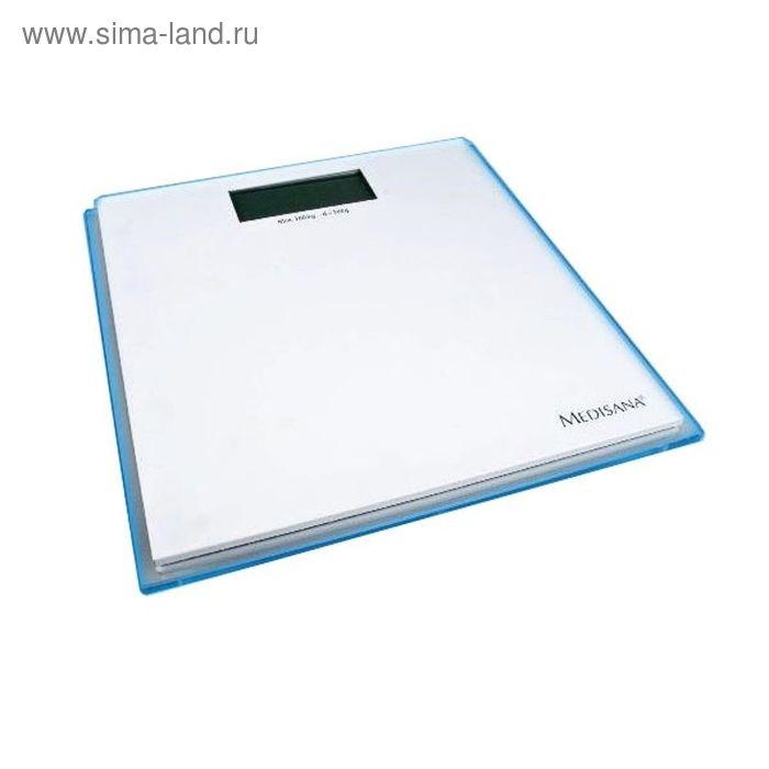 Весы напольные Medisana ISB, электронные, до 180 кг, белый/голубой