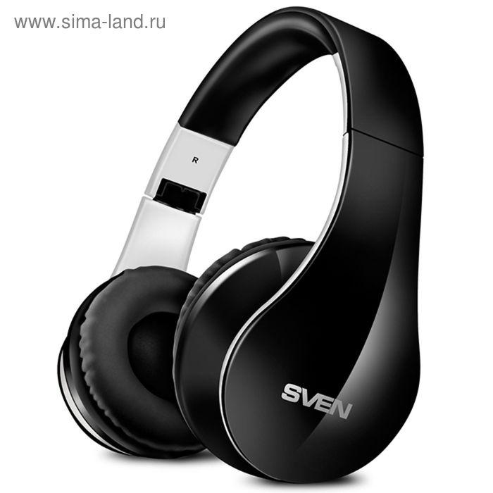 Наушники с микрофоном Sven AP-B450MV, Bluetooth, черно-белые