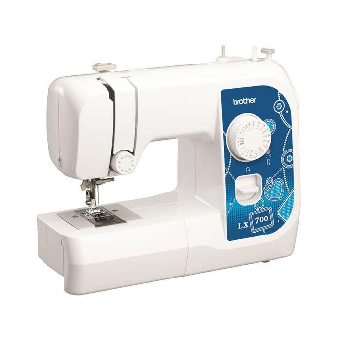 Швейная машина Brother LX700, 50 Вт, 17 операций, полуавтомат, бело-бежевая