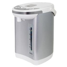 Термопот Mystery MTP-2451, 5 л, 700 Вт, бело-серебристый