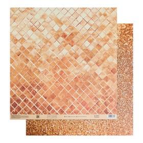 Бумага для скрапбукинга «Сияние золота», 30.5 × 30.5 см, 180 г/м