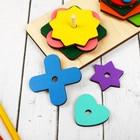 Логическая головоломка «Собери узор», 18 деталей, 4 карточки - Фото 2
