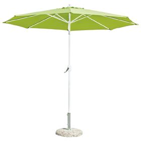 Зонт пляжный «ТУРИН», цвет белый/зелёный, d=270 см Ош
