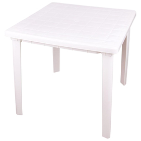 Стол квадратный, размер 800х800х740, цвет белый