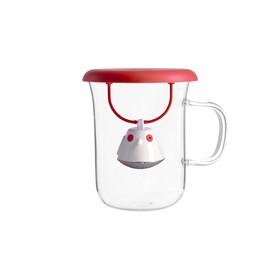 Кружка с заварочной емкостью Birdie Swing, 400 мл, красная