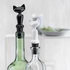 Пробка для бутылки MIAOU, чёрная - Фото 3