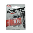 Батарейка алкалиновая Energizer Max +PowerSeal, AA, LR6-2BL, 1.5В, блистер, 2 шт. - Фото 2
