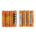 """Батарейка солевая """"Трофи"""" Super Heavy Duty, AAA, R03-4S, 1.5В, спайка, 4 шт. - Фото 3"""