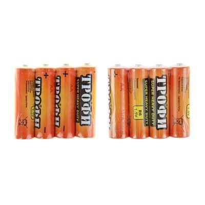 """Батарейка солевая """"Трофи"""" Super Heavy Duty, AA, R6-4S, 1.5В, спайка, 4 шт."""