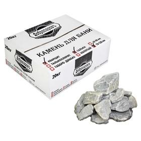 Камень для бани 'Кварцит' обвалованный, коробка 20кг, фракция 70-120мм, 'Добропаровъ' Ош