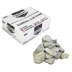 Камень для бани 'Талькохлорит' колотый, коробка 20кг, фракция 70-120мм, 'Добропаровъ' Ош