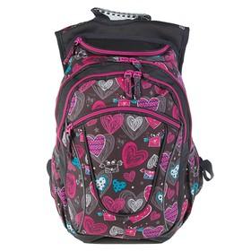 Рюкзак молодёжный Yes T-27 45 х 26 х 20 см, эргономичная спинка, Ginger, серый/розовый